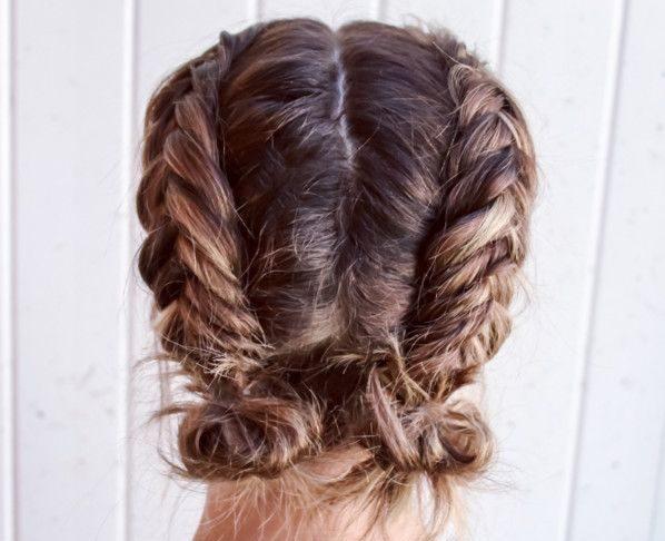 Beginner braids for short hair