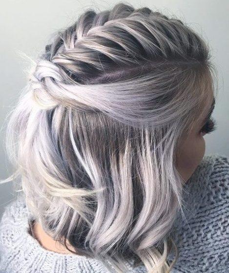 Braid for shoulder length hair