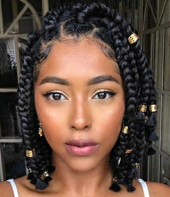 Braided hairstyles for short hair black girls