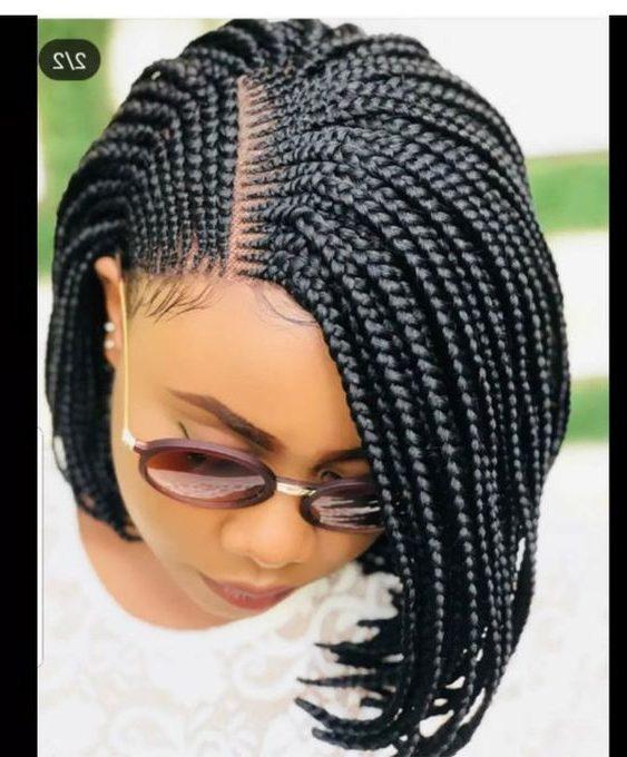 Flat box braids
