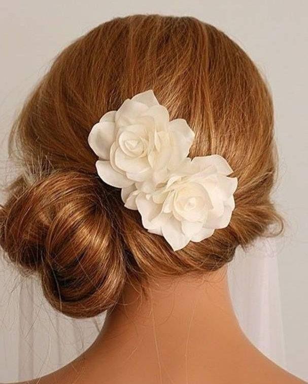 Side bun with flower