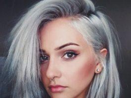 Silver short grey hair