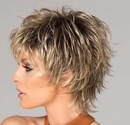 Thick hair short shaggy hairstyles
