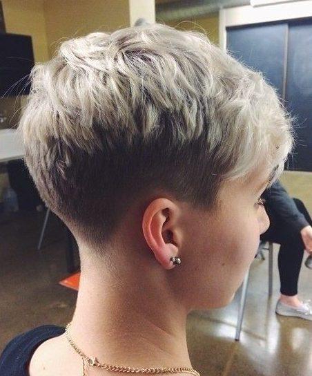 Undercut short hair tomboy haircuts