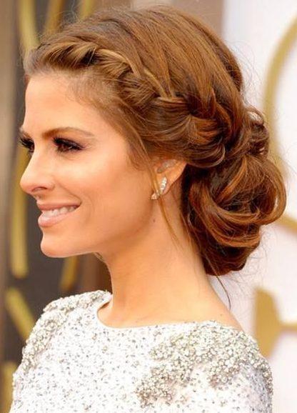 Wedding side bun hairstyle for short hair