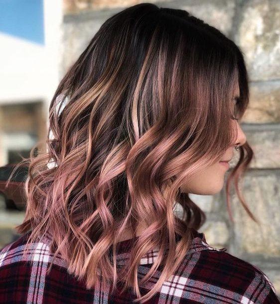 brown rose brown hair color for short hair