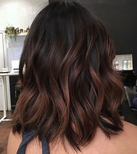 dark brown hair color for short hair