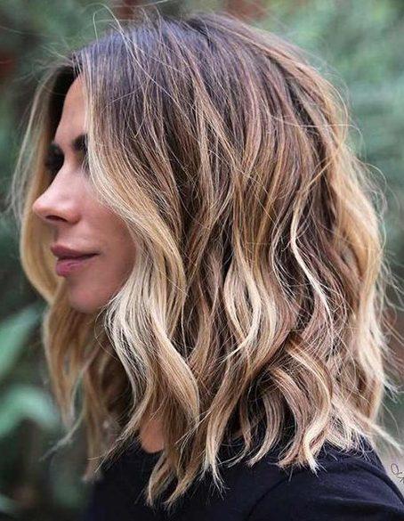 layered choppy shoulder length hair