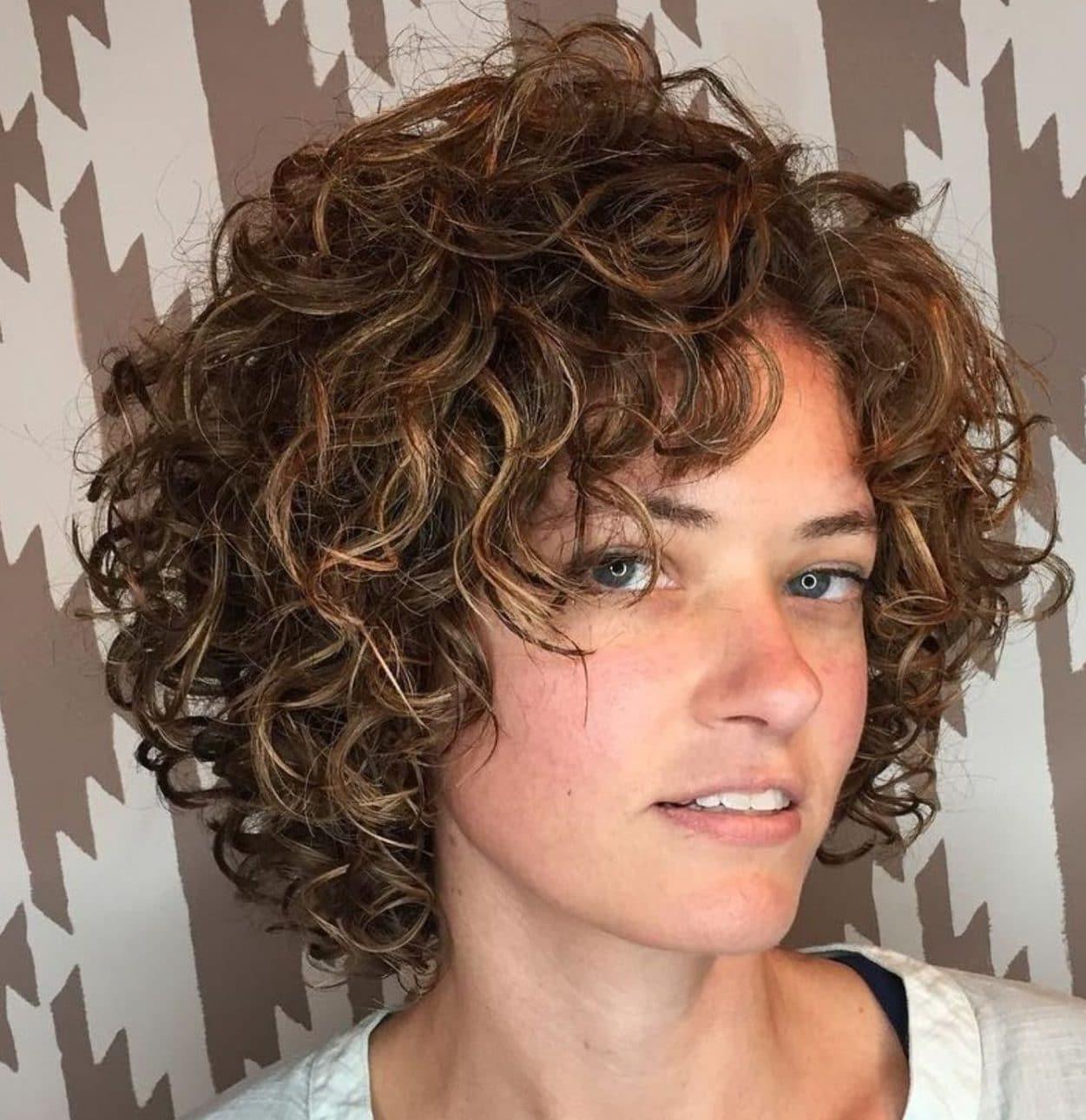 Layered short curly haircuts