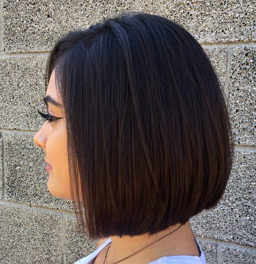 Medium length short straight hair