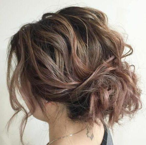 Messy short hair updos