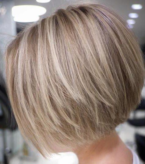 Neck length short straight hair