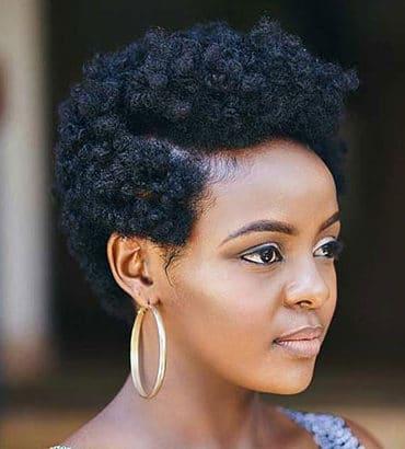 Short natural haircuts for black females 2021