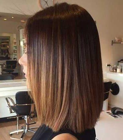 Shoulder length short straight hair styles