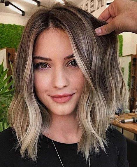 Light brunette balayage hairstyle