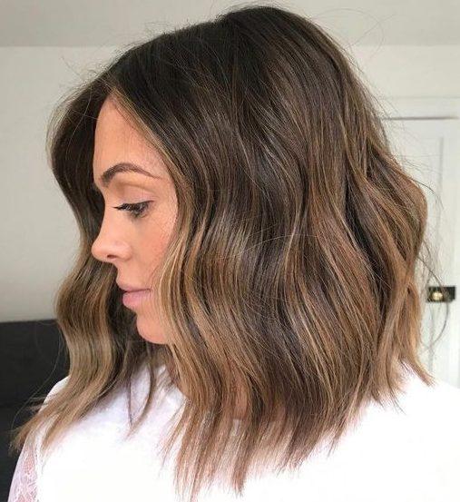 Subtle balayage dark brown hair