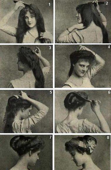 Gibson girl hairstyle tutorial