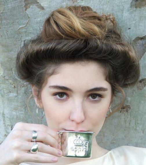 Modern gibson girl hair
