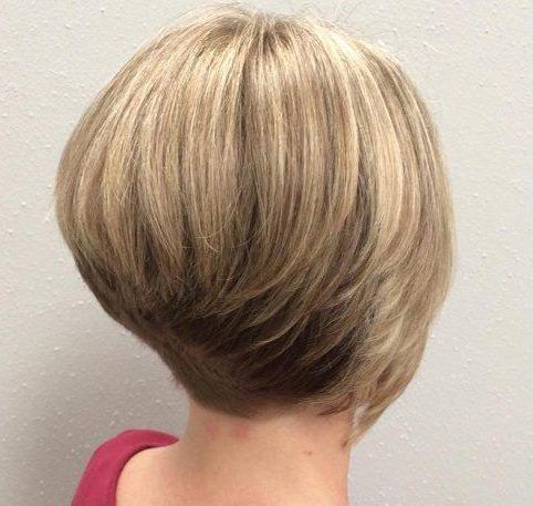 Short stacked bob haircuts for thin hair